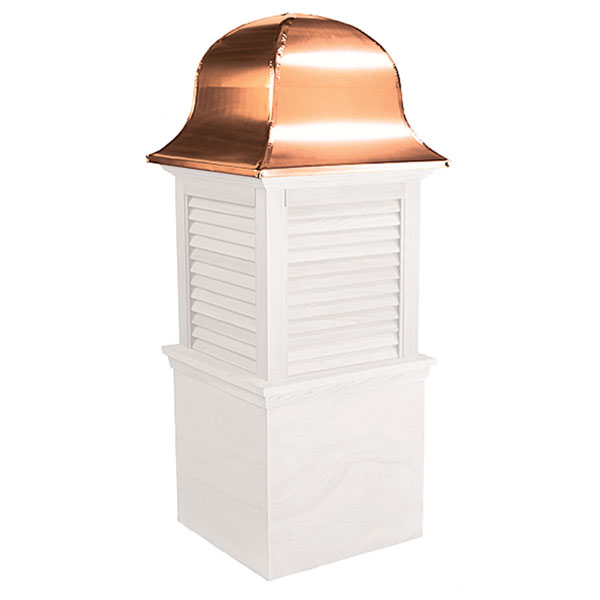 Vinyl Stephenson Richmond Louver Cupola with Copper Roof