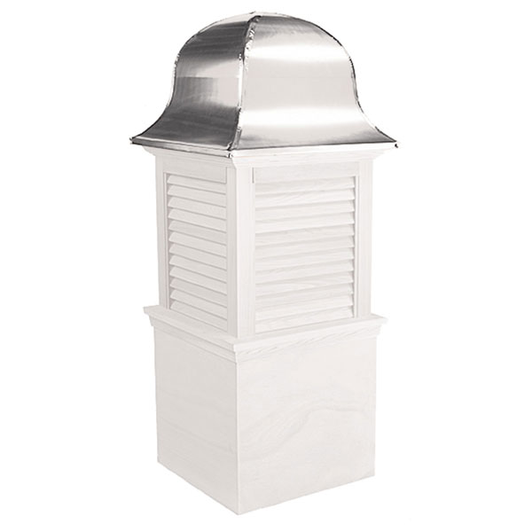 Vinyl Stephenson Richmond Louver Cupola with Aluminum Roof