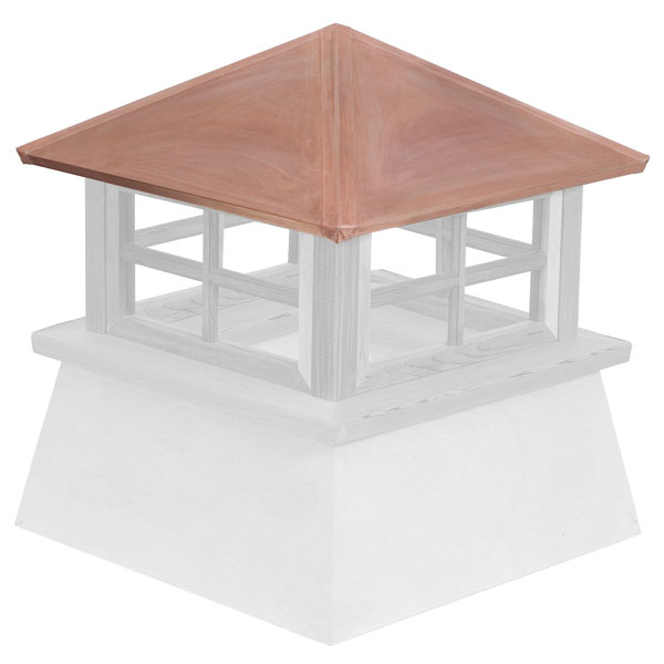 Vinyl Stephenson Manchester 4-Lite Glass Window Cupola with Copper Roof