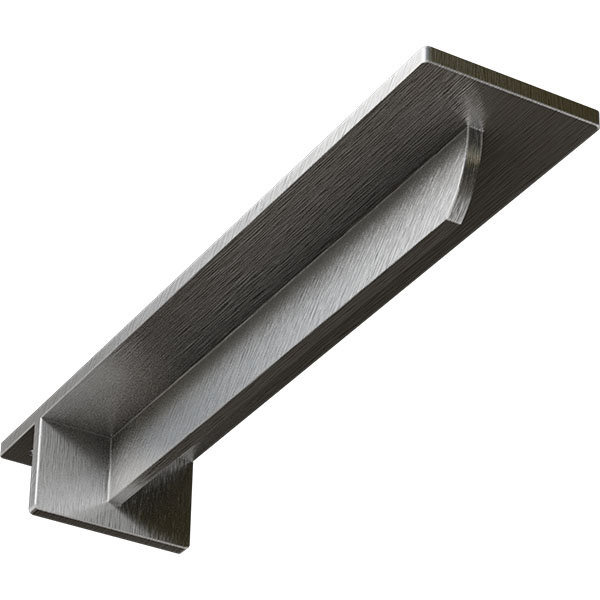 "3""W x 14""D x 2""H Heaton Hidden Support Bracket with 10"" Support Depth, Stainless Steel"