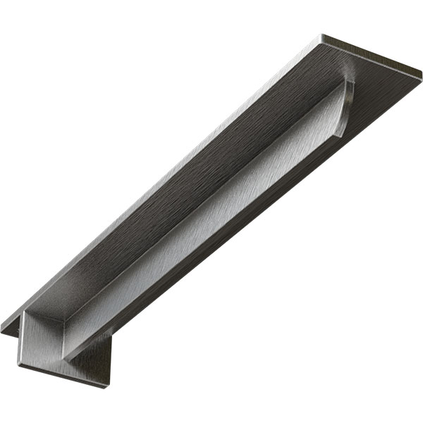 "3""W x 18""D x 2""H Heaton Hidden Support Bracket with 14"" Support Depth, Stainless Steel"