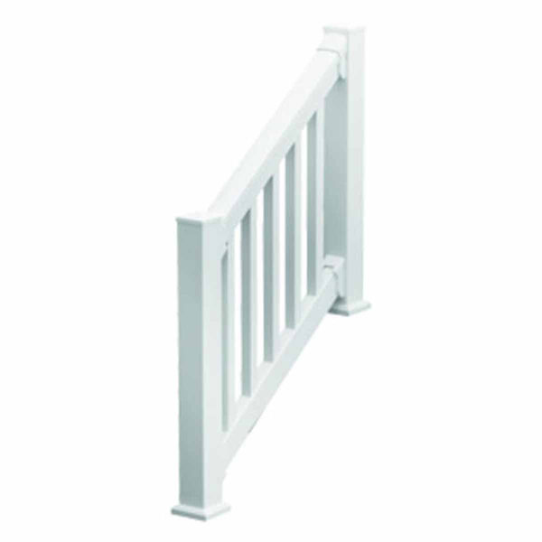 "QuickRail Stair Kit with Square Spindles, 36""H x 78""L (3 1/8"" Spindle Spacing), White"