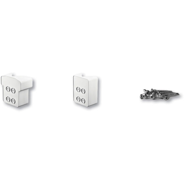 45 Degree Corner Post Bracket Kit (For use with QuickRail Straight Rail Kits), White