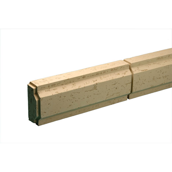 "Decorative Trim Blocks, Stone Texture, 6 31/32""W x 96""L x 3 7/16""P"
