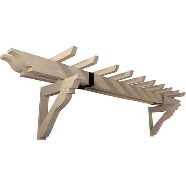 Trellis Kit, Wood Grain, Fits 8' 9' Garage Doors