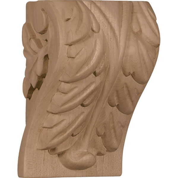 "3 1/4""W x 2 3/4""D x 5""H Medium Acanthus Leaf Block Corbel"