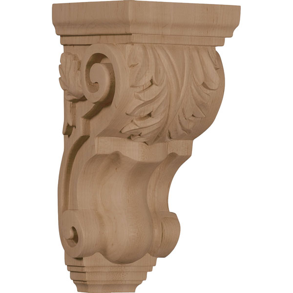 "4 1/2""W x 5""D x 10""H Medium Traditional Acanthus Corbel"