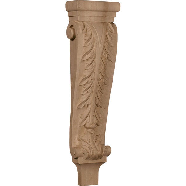 "6 1/4""W x 3""D x 22""H Large Acanthus Pilaster Corbel"