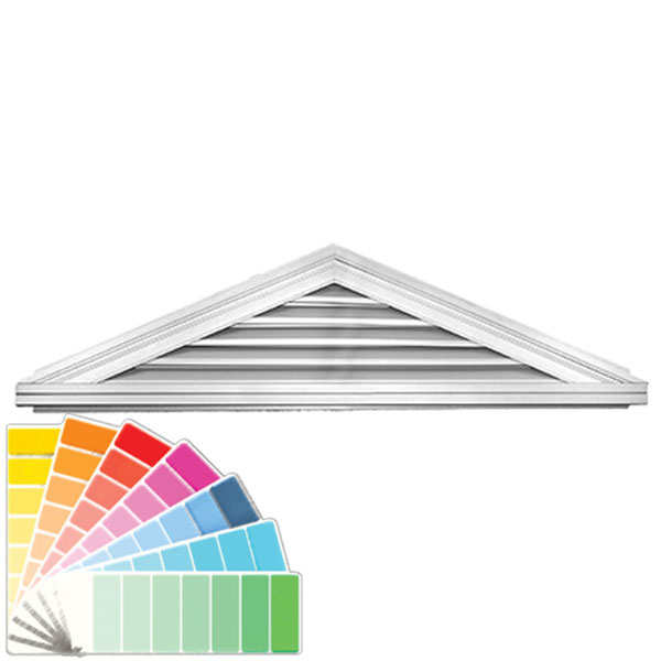"17""H x 70 1/2""W Triangle Gable Vent Louver, 5/12 Pitch, 74 Sq. Inch Vent Area"