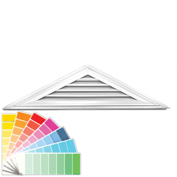 "18""H x 72 1/2""W Triangle Gable Vent Louver, 6/12 Pitch, 61 Sq. Inch Vent Area"