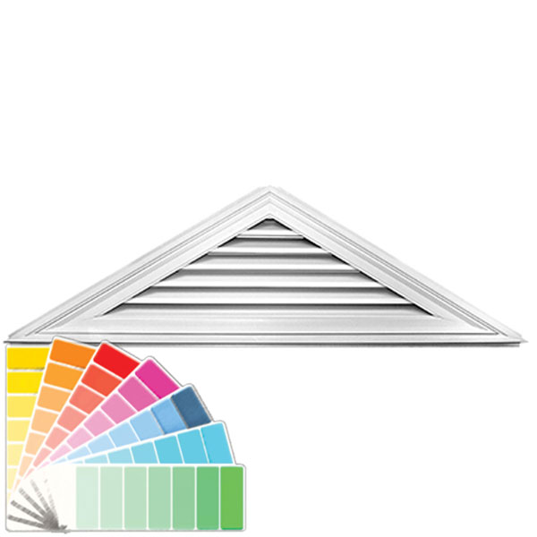 "20 1/2""H x 70 1/2""W Triangle Gable Vent Louver, 7/12 Pitch, 81 Sq. Inch Vent Area"