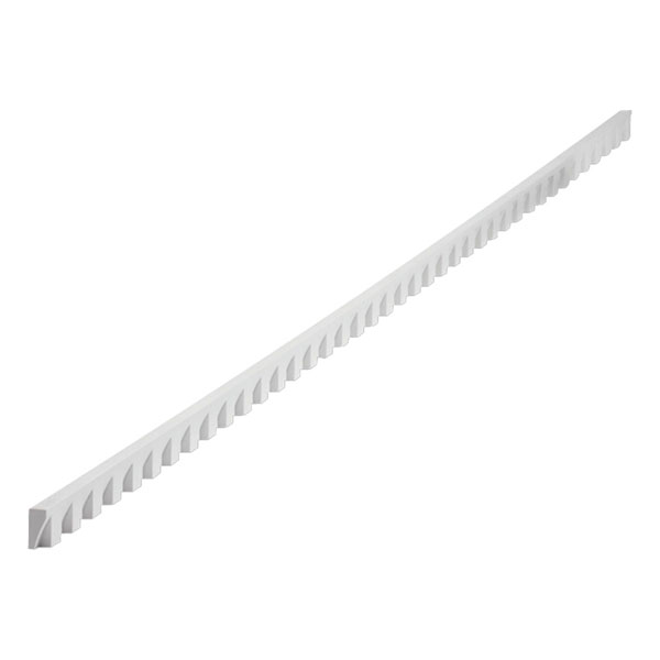 "1 1/4""W x 3/4"" Tooth/Space x 5/8""P, 5' Length, Small Dentil Moulding"