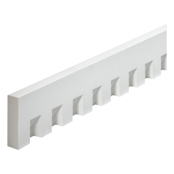 "4 1/2""W x 1 1/2'"" Tooth/Space x 1 1/4""P, 12' Length, Classic Dentil Moulding"