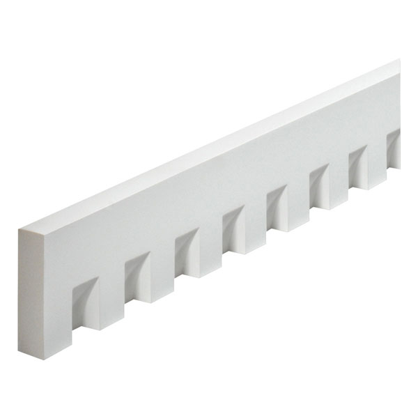 "4 1/2""W x 1 1/4"" Tooth/Space x 1 1/4""P, 16' Length Classic Dentil Moulding"
