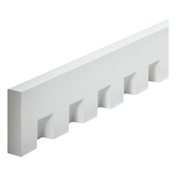 "5 3/4""W x 2 1/4""Tooth/Space x 1 5/8""P, 16'1 1/2""Length, Classic Dentil Moulding"