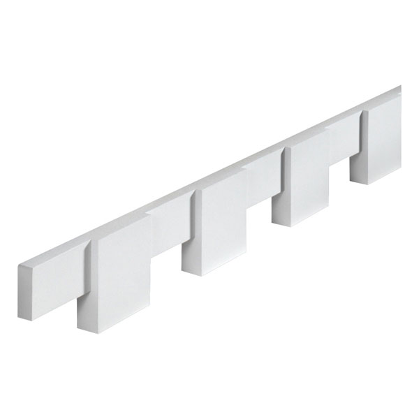 "4 7/16""W x 4 3/8""T/S x 1 1/4""P, 8' 1/4""Length, Dentil Block Moulding"