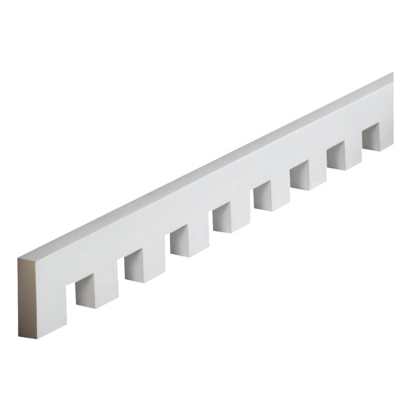 "3 1/16""W x 1 5/8""T/S x 1""P, 12' 2 1/4""Length, Dentil Moulding"