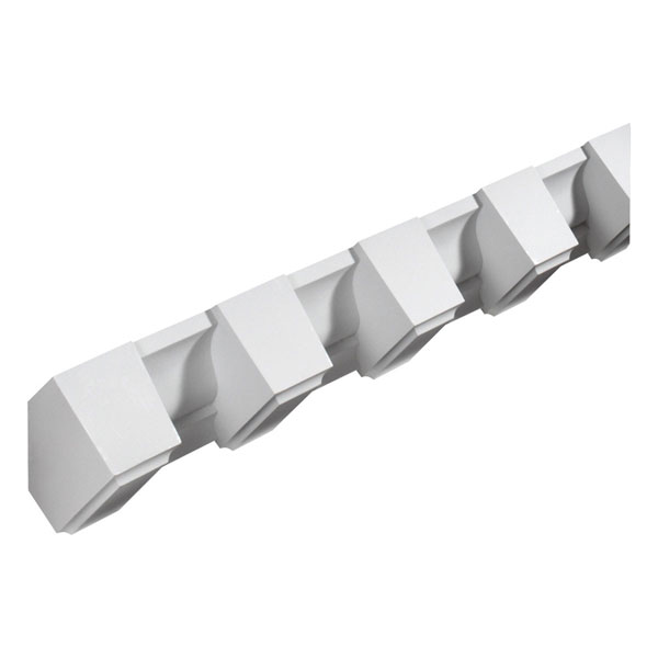 "3 3/4""W x 3 3/4""T/4 1/4""S x 3 1/2""P, 8' Length, Beveled Dentil Block Moulding"