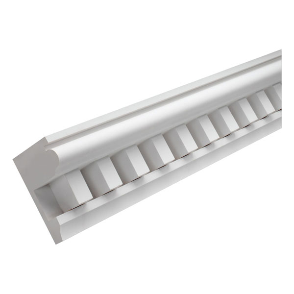 "8 3/8""W x 2 1/2""T/2""S x 4 3/4""P, 16' Length, Dentil Moulding"