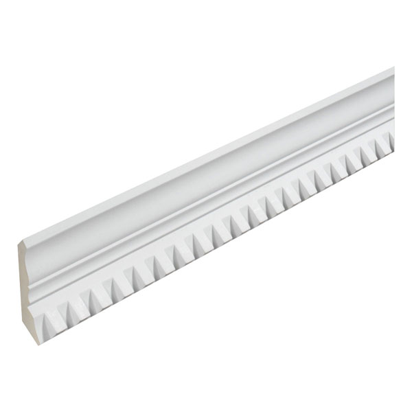 "3 3/4""H x 3 3/4""T/S x 2 1/2""P, 16' Length, Crown Dentil Moulding"