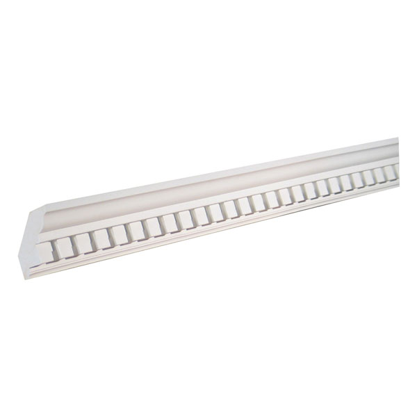 "4""H x 3/4""T/1 1/4""S x 3 3/8""P, 16' Length, Crown Dentil Moulding"
