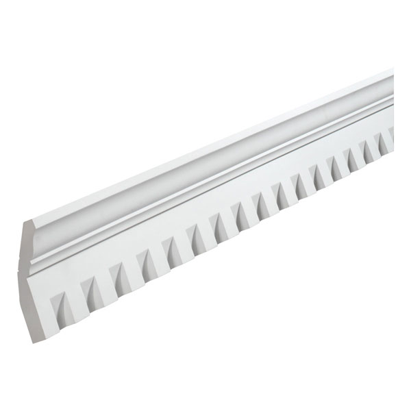 "6 7/8""H x1 1/2""T/S x 3 1/4""P, 8' Length, Crown Dentil Moulding"