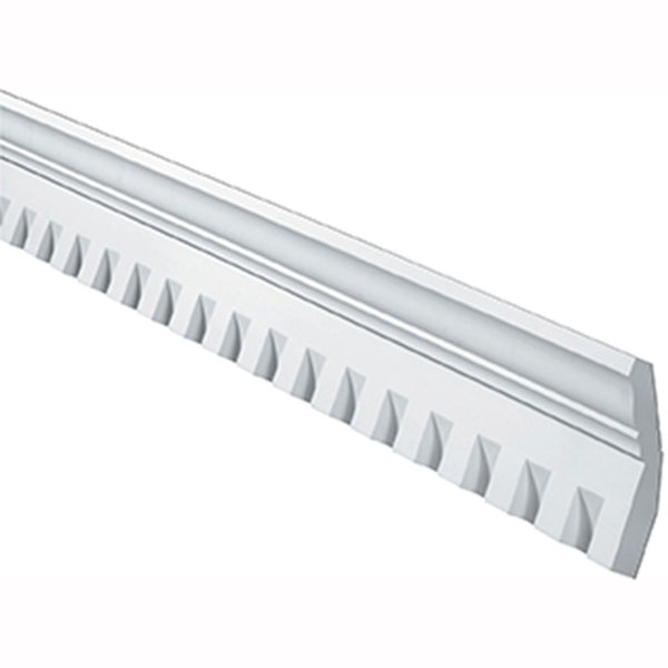 "6 7/8""H x 1 1/2""T/S x 3 1/4""P, 12' Length, Crown Dentil Moulding"