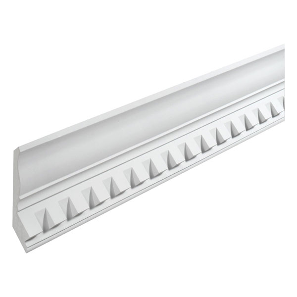 "7 1/8""H x 1 1/2""T/S x 4 7/16""P, 16' Length, Crown Dentil Moulding"
