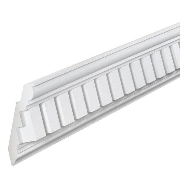 "8 1/8""H x 1 3/4""T/7/8""S x 5 1/2""P, 12' 2 1/2""Length, Classic Crown Dentil Moulding"