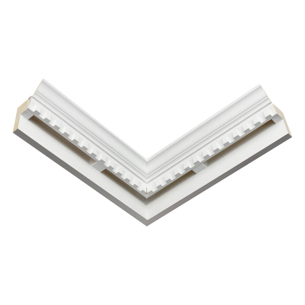 """18""""W x 6 3/16""""H x 4 7/16""""P Mitered Inside Corner (for use with EV404)"""