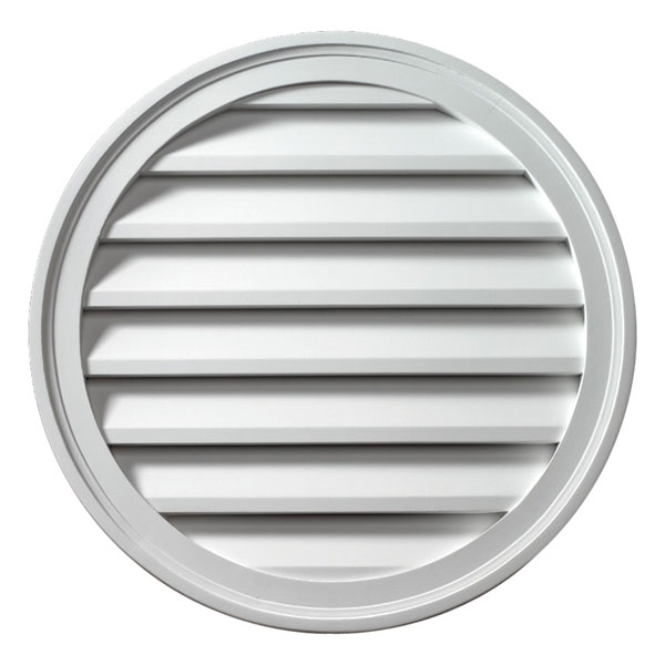 "18""W x 18""H Round Louver, Functional"