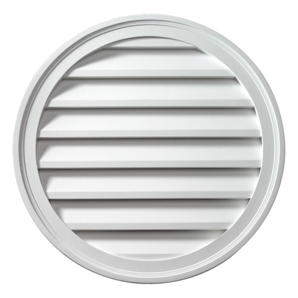 "24""W x 24""H Round Louver, Functional"
