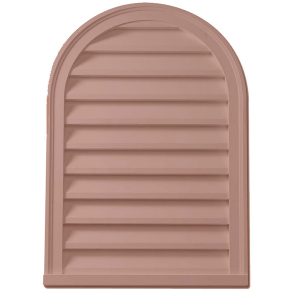 "22""W x 31""H Cathedral Louver, Decorative, Woodgrain/Stainable"