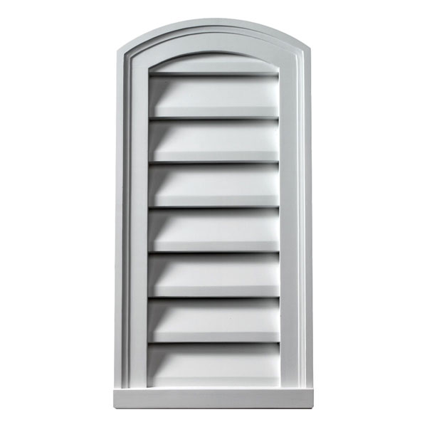 "12""W x 24""H Eyebrow Louver, Decorative"