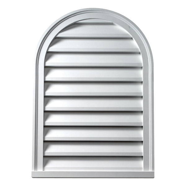 "24""W x 48""H Cathedral Louver, Functional"