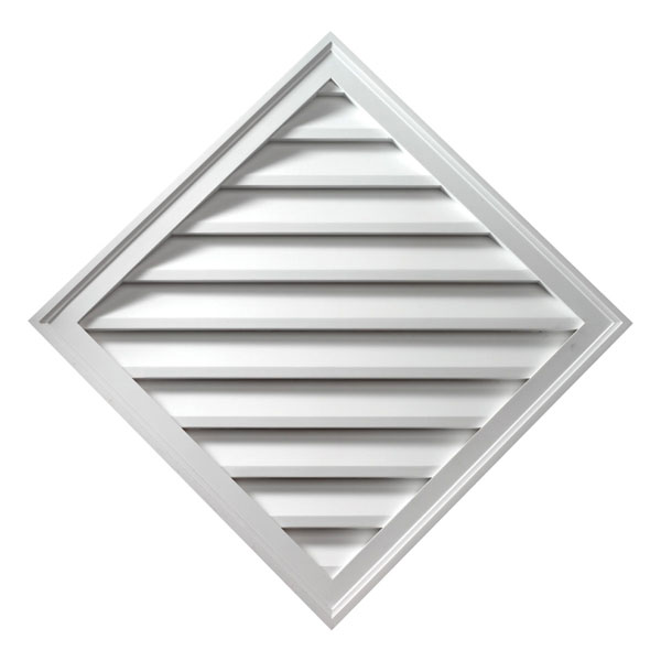 "24""W x 33 15/16"" Diamond Louver, Functional"
