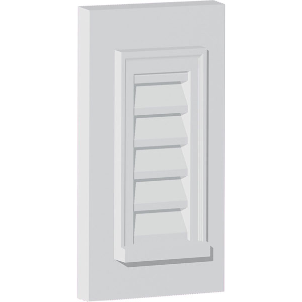 "19""W x 25""H Vertical Louver with Decorative Trim, Functional"