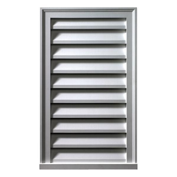 "Vertical Louver 14""W x 30""H x 2""P, Smooth, Functional"