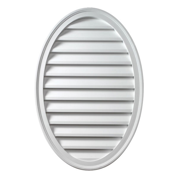 """18""""W x 24""""H Oval Louver, Vertical, Functional"""
