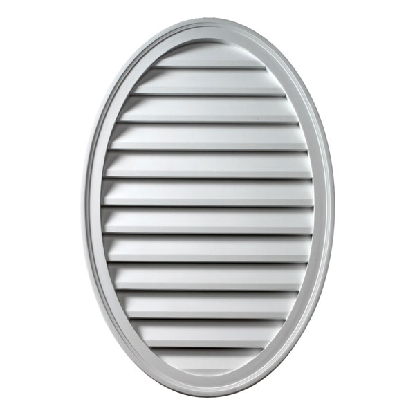 """24 1/2""""W x 37""""H Oval Louver, Vertical, Functional"""