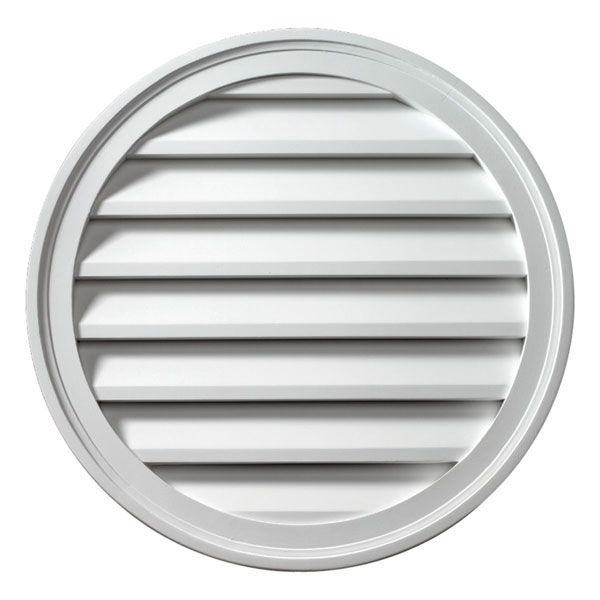 "12""W x 12""H Round Louver, Functional"
