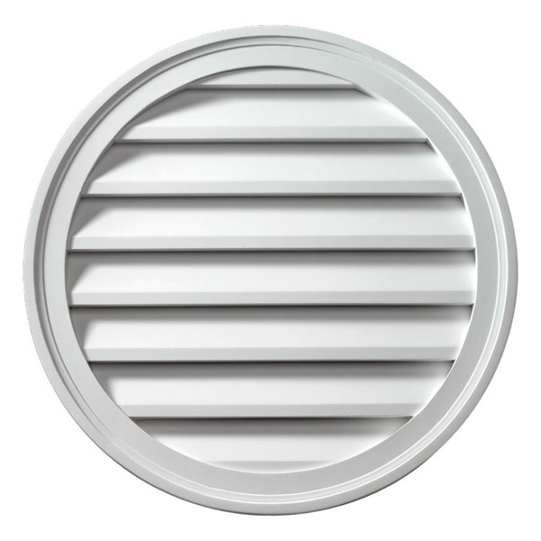"16""W x 16""H Round Louver, Functional"