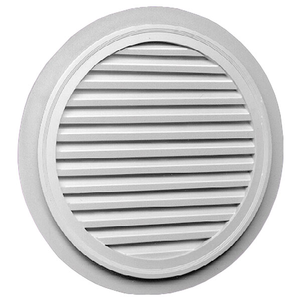 "32""W x 32""H Round Louver with 2"" Trim, Functional"