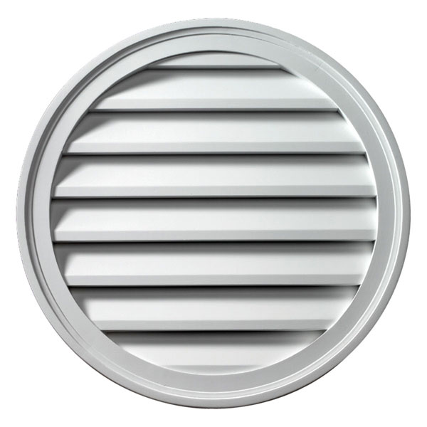 "48""W x 48""H Round Louver, Functional"