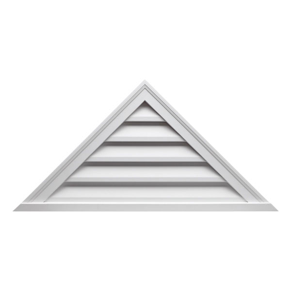 "48""W x 18""H Triangle Louver, 9/12 Pitch, Functional"