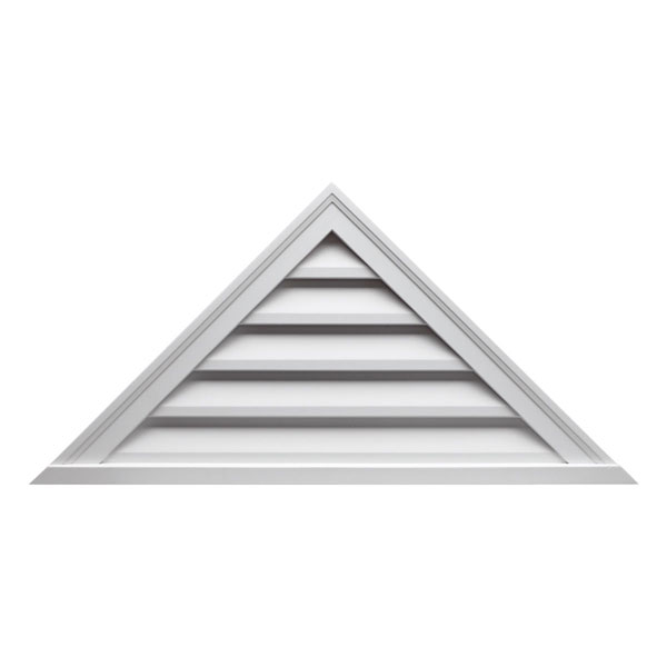 """60""""W x 17 1/2""""H Pitch 7/12, Triangle Louver, Functional"""