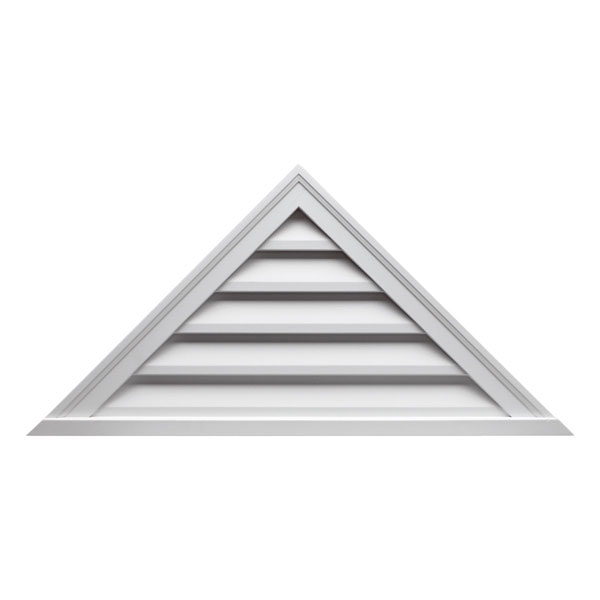 """60""""W x 30""""H Pitch 12/12, Triangle Louver, Functional"""