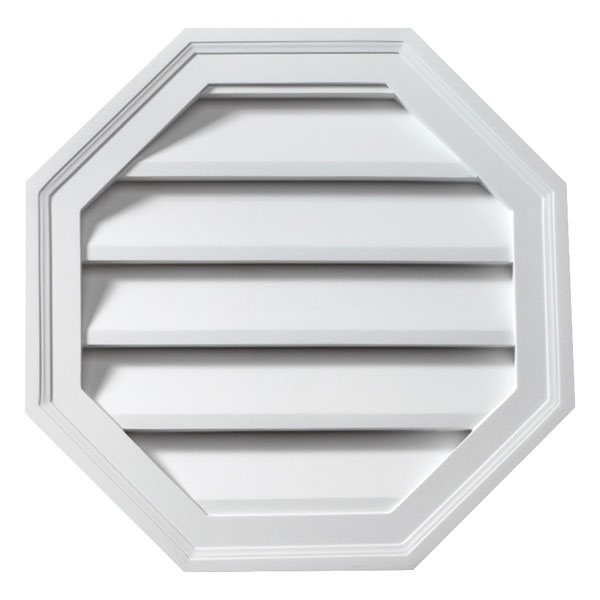 "22""W x 22""H Octagon Louver, Decorative"
