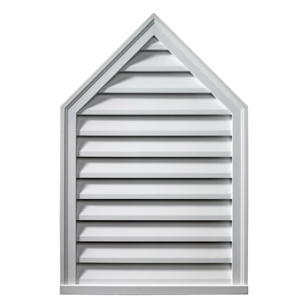 """24""""W x 36""""H Peaked Louver, 12/12 Pitch, Decorative"""