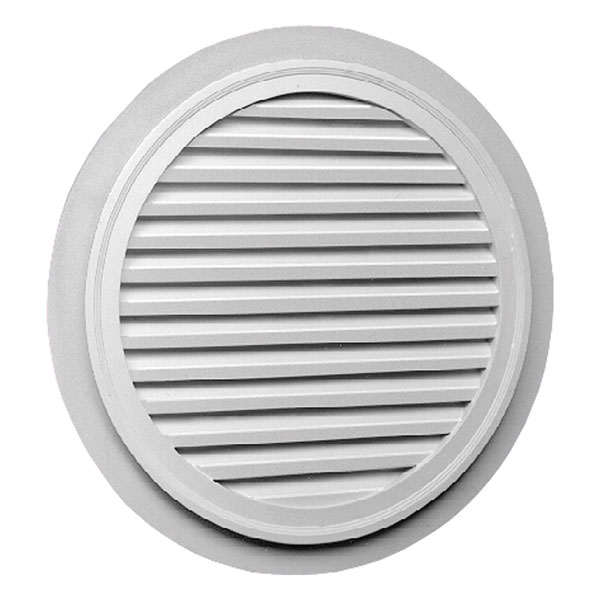 "32""W x 32""H Round Louver with 2"" Trim, Decorative"